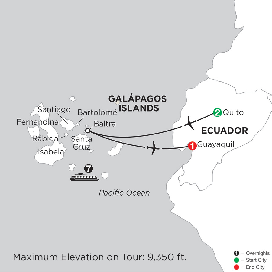 Cruising the Galápagos on board the Coral I/II – 7-Night cruise