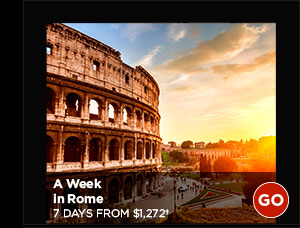 A Week In Rome: 7 Days from $1,272+ GO