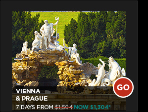 VIENNA & PRAGUE 7 DAYS FROM $1,304*