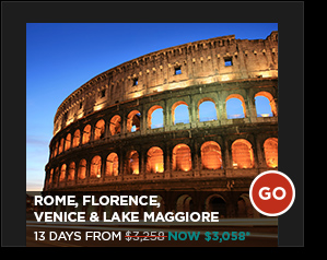 ROME, FLORENCE, VENICE & LAKE MAGGIORE 13 DAYS FROM $3,058*