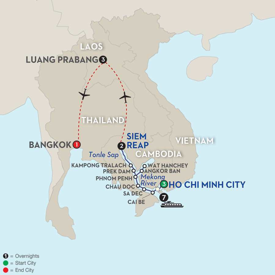 Fascinating Vietnam, Cambodia and the Mekong River with Luang Prabang – Northbound (WHSL2015)