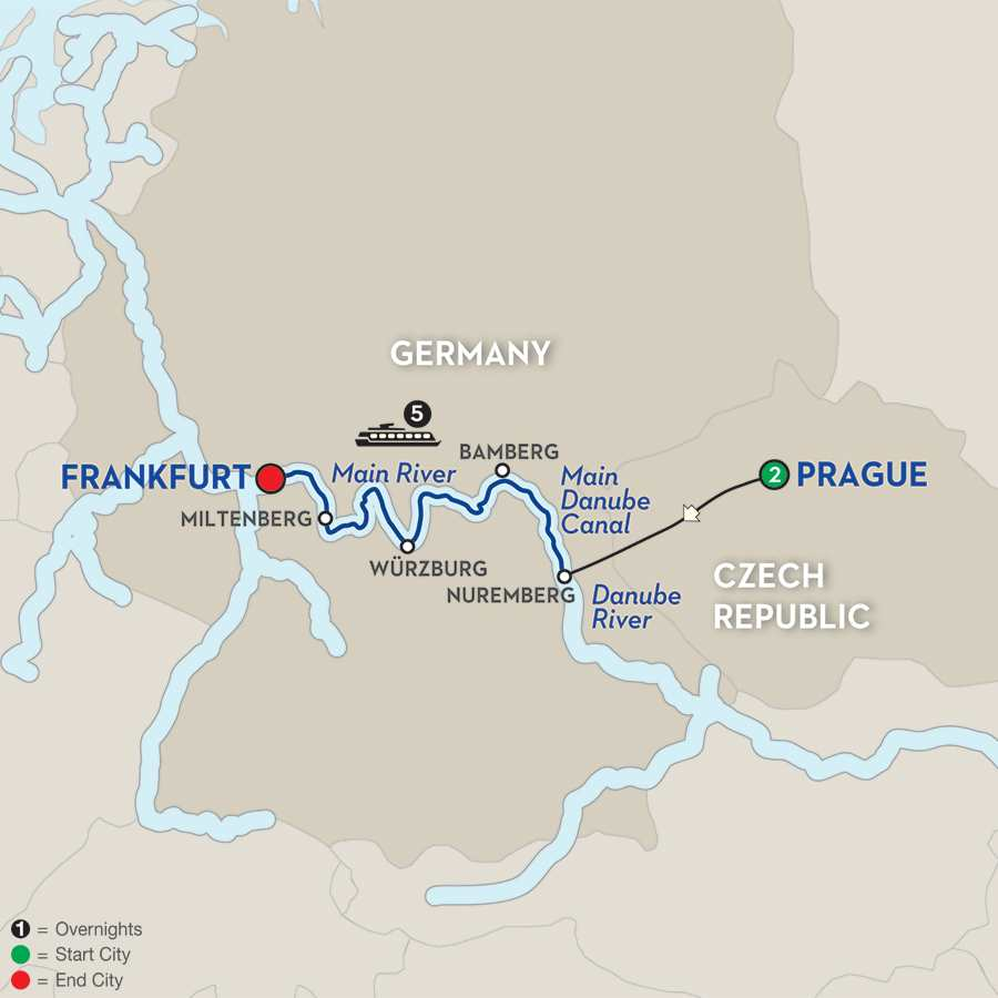 river cruise vacation map