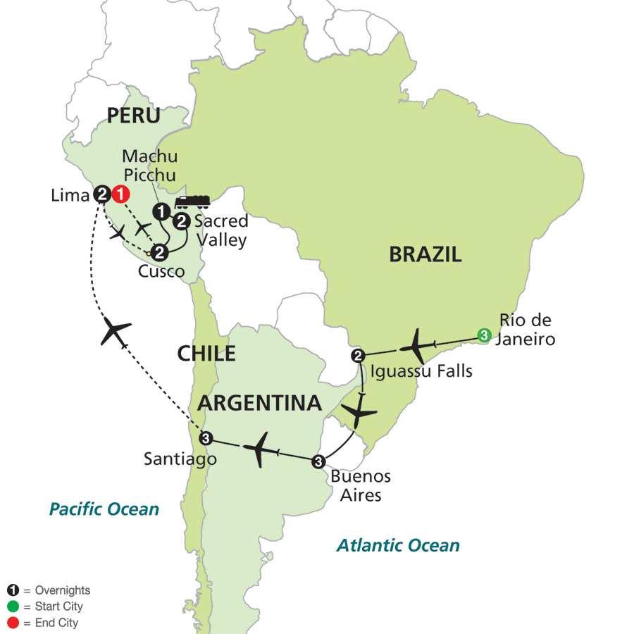 Brazil Argentina Peru Tour Packages