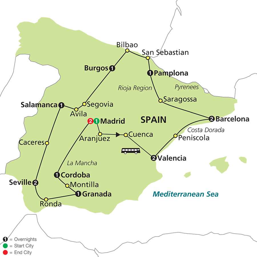 Cosmos Tours Best Of Spain And Portugal