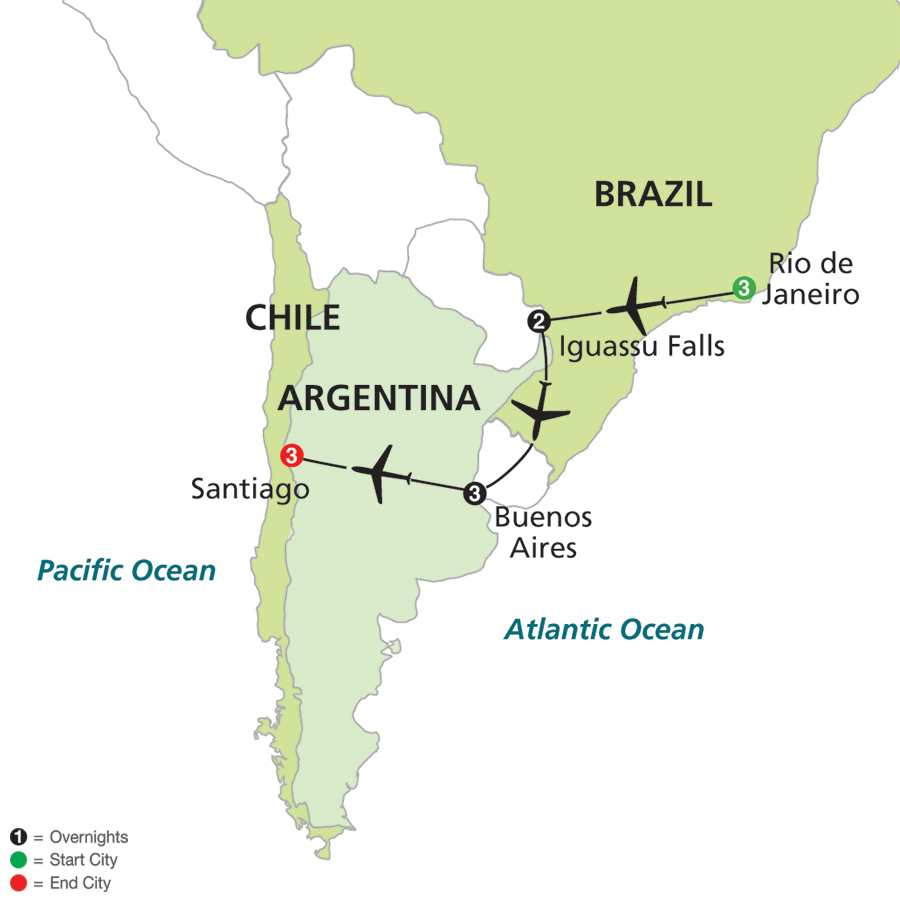 Brazil, Argentina and Chile Unveiled (11002015)