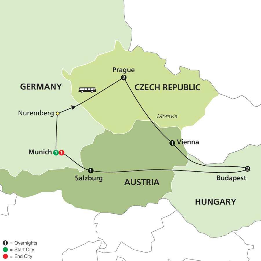 Prague, Vienna and Budapest (60502015)