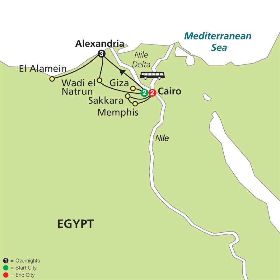 Cairo, Alexandria and the Mediterranean (67702015)