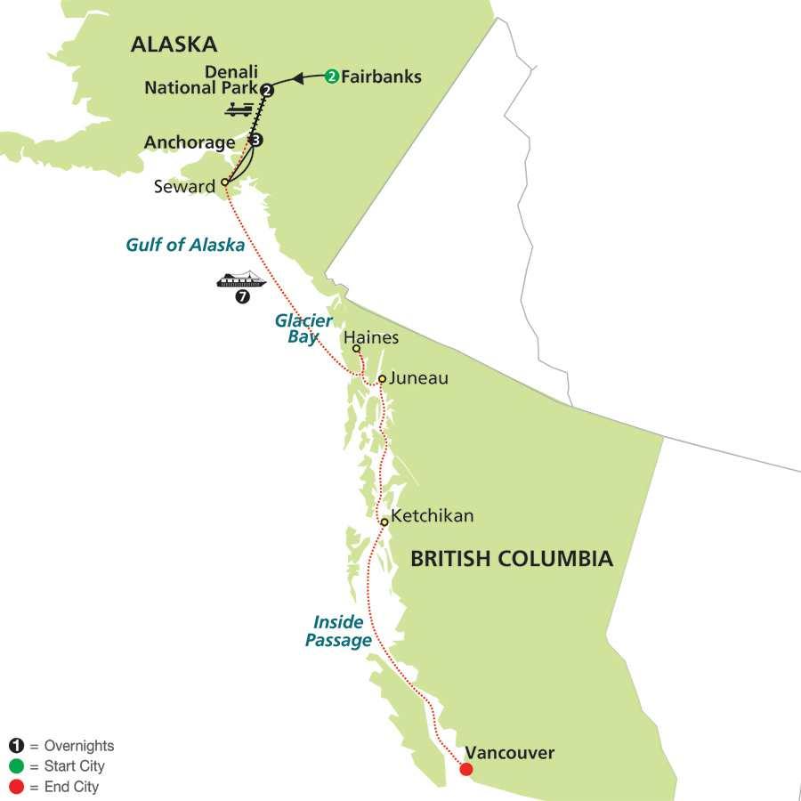 Alaskan Adventure with Alaska Cruise (84252015)