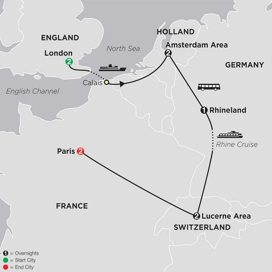 Itinerary map of A Taste Of Europe