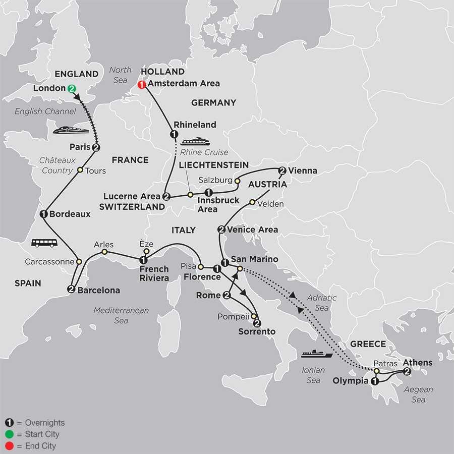 European Tours Including Airfare 2017