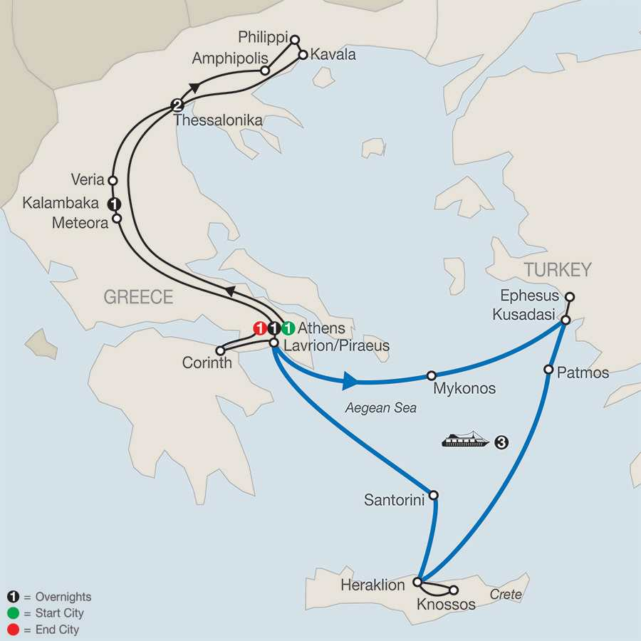 Historic Cities of Greece and Turkey with Cruise