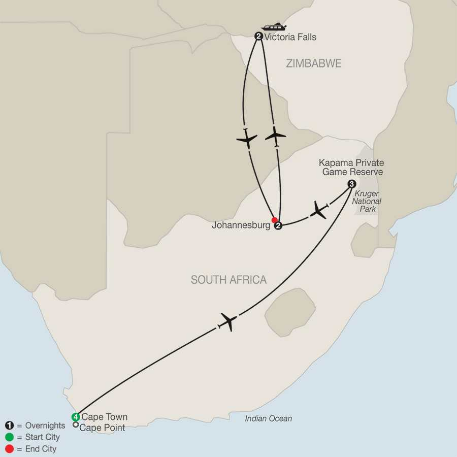 Splendors of South Africa and Victoria Falls (QS2015)