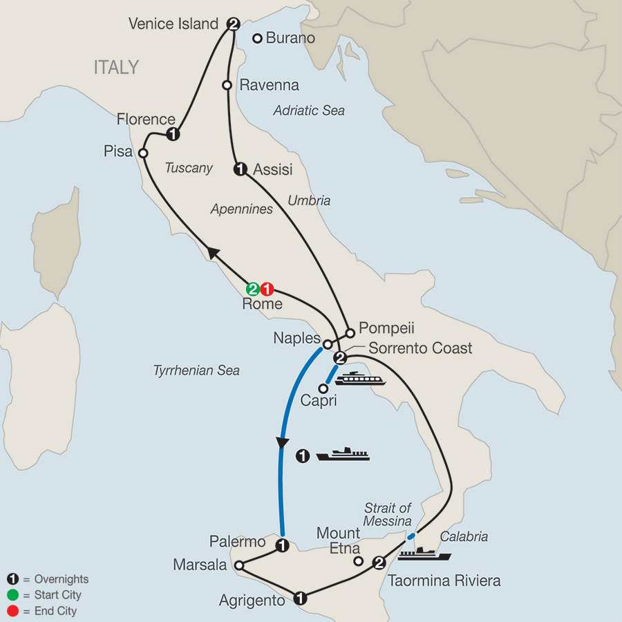 Italy Tours Globus Italy Vacation Packages – Northern Italy Map Tourist