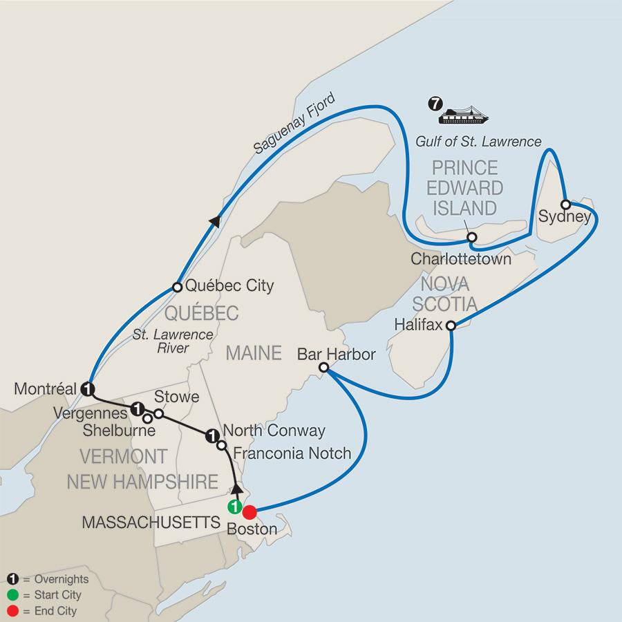 Passage Through New England Amp Eastern Canada Globus