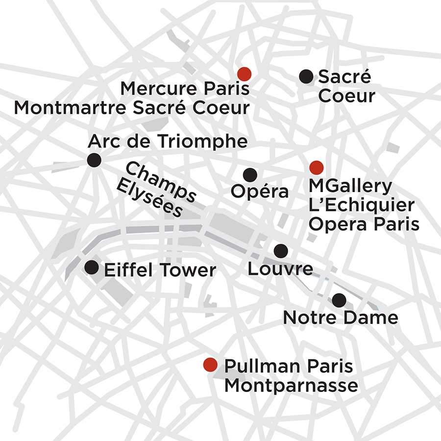 Itinerary map of Paris Getaway