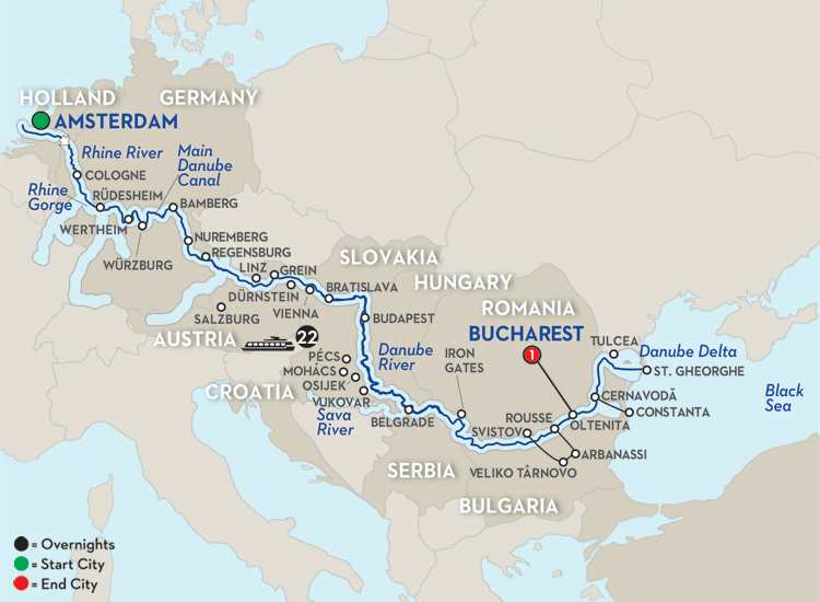 North Sea-Black Sea Cruise - Eastbound