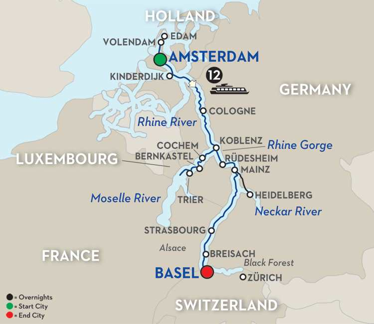 The Rhine & Moselle – Southbound