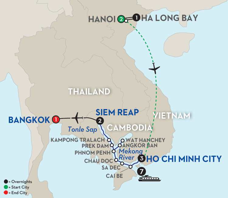 Fascinating Vietnam, Cambodia & the Mekong River with Hanoi & Ha Long Bay – Northbound