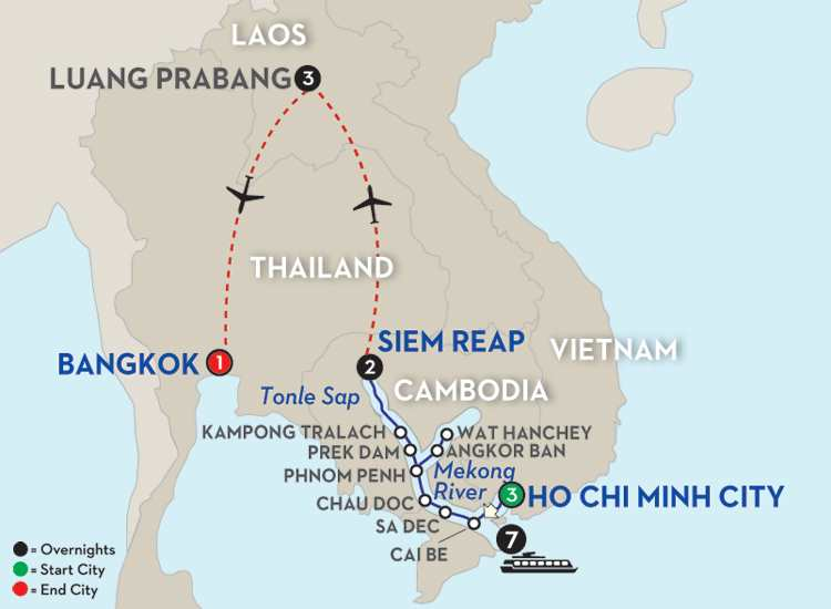Fascinating Vietnam, Cambodia & the Mekong River with Luang Prabang – Northbound