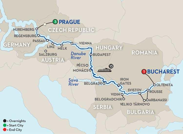 Grand Danube Cruise – Eastbound