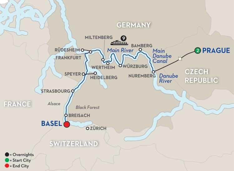 Christmastime Prague to Basel – Westbound