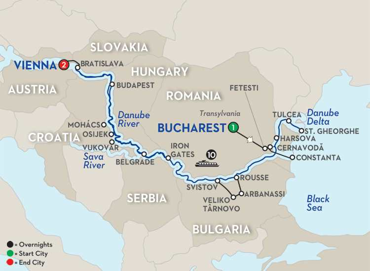 Blue Danube to the Black Sea – Westbound