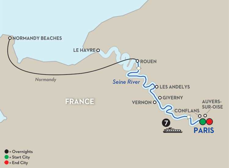 Paris to Normandy's Landing Beaches