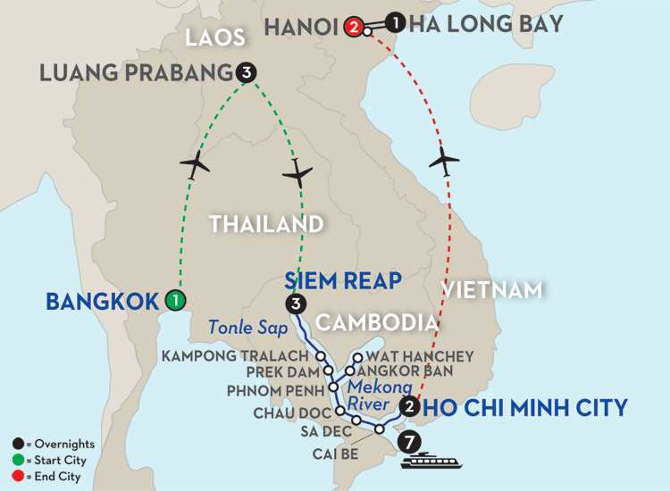 Fascinating Vietnam, Cambodia & the Mekong River with Luang Prabang, Hanoi & Ha Long Bay – Southbound