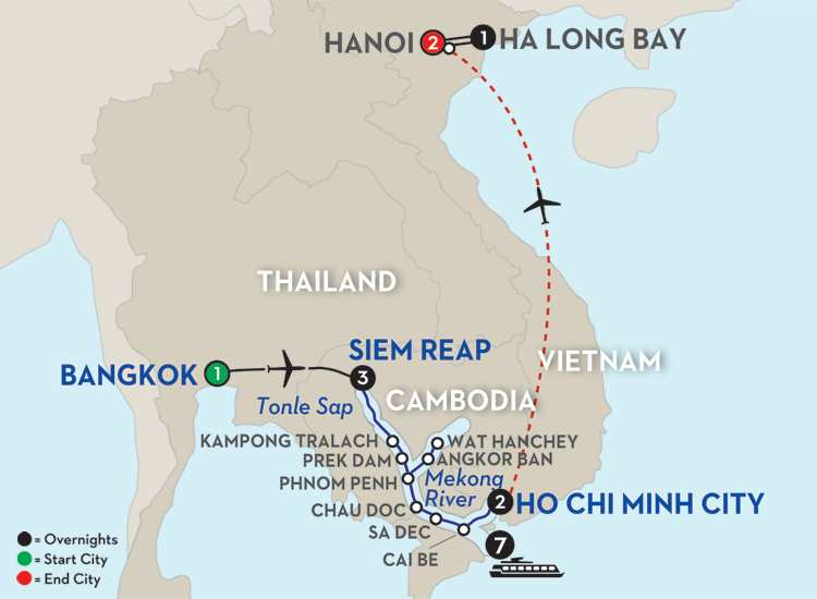 Fascinating Vietnam, Cambodia & the Mekong River with Hanoi & Ha Long Bay - Southbound