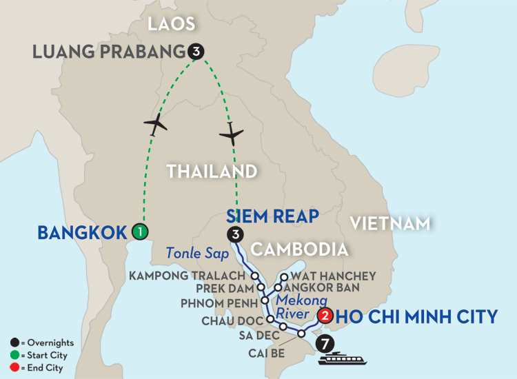 Fascinating Vietnam, Cambodia & the Mekong River with Luang Prabang - Southbound