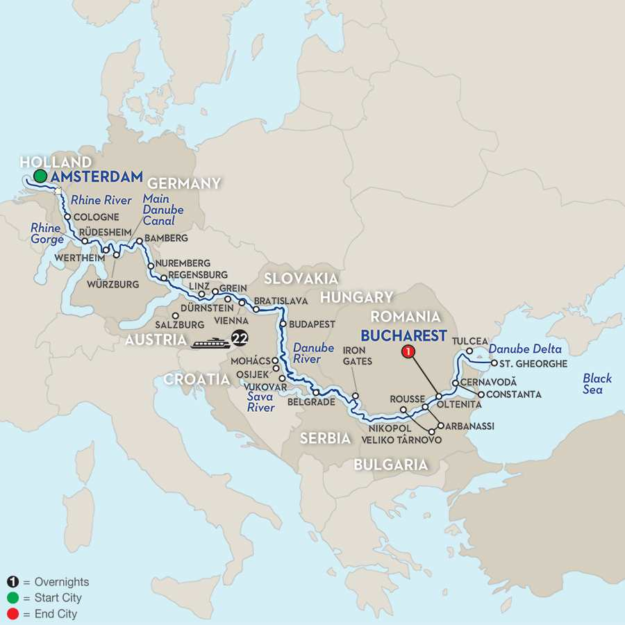 North Sea–Black Sea Cruise – Eastbound