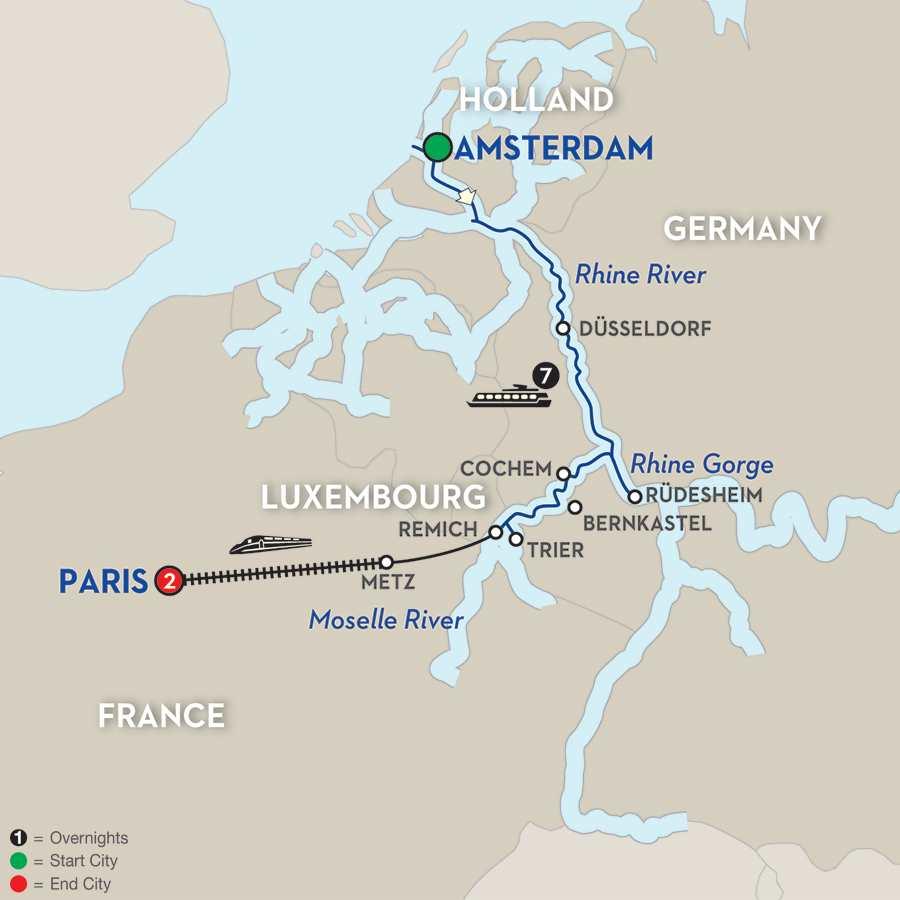 Canals, Vineyards & Paris - Southbound