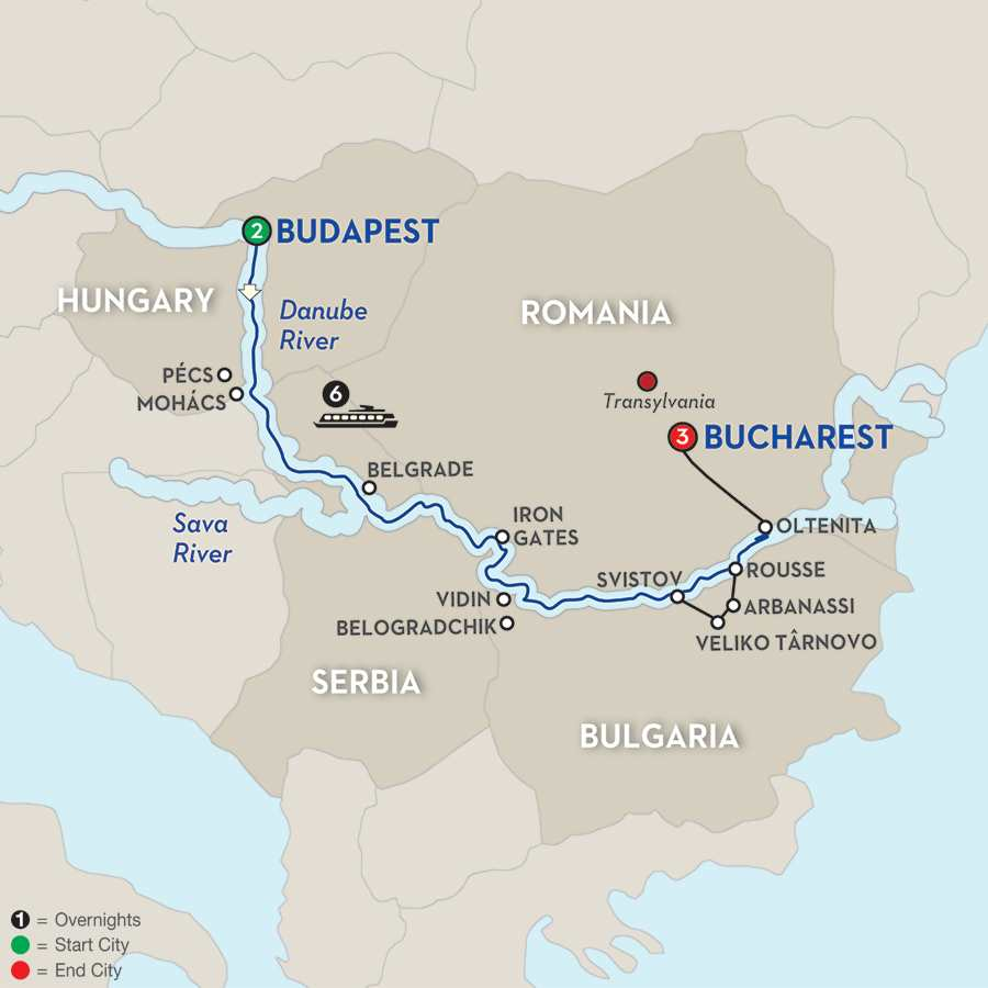 Balkan Discovery with Extended Stay in Bucharest – Eastbound