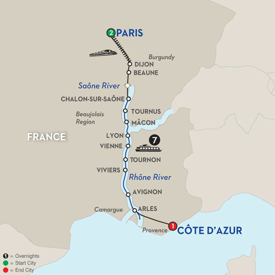 Burgundy & Provence – Southbound