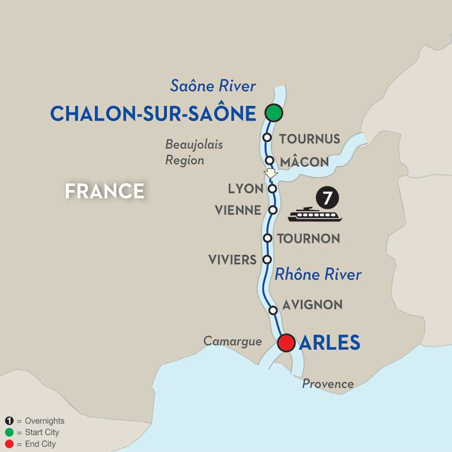 Burgundy & Provence - Cruise Only Southbound