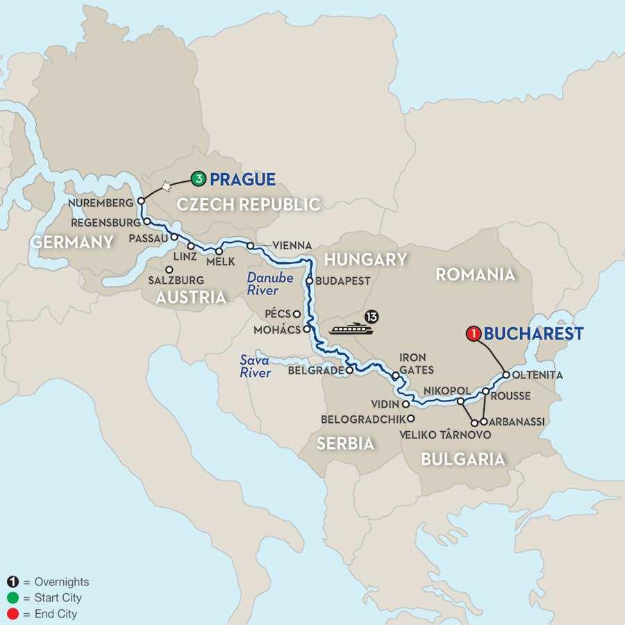 Grand Danube Cruise - Eastbound