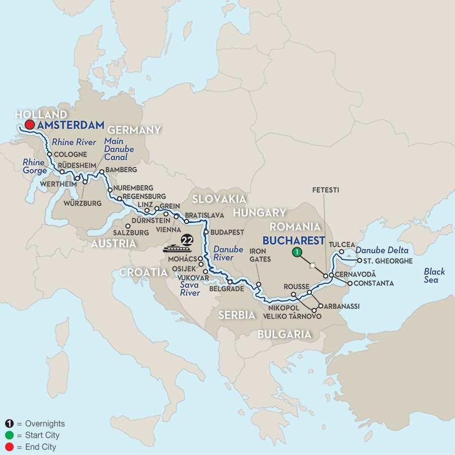 North Sea–Black Sea Cruise – Westbound
