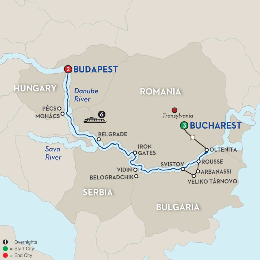 Balkan Discovery with Extended Stay in Bucharest - Westbound