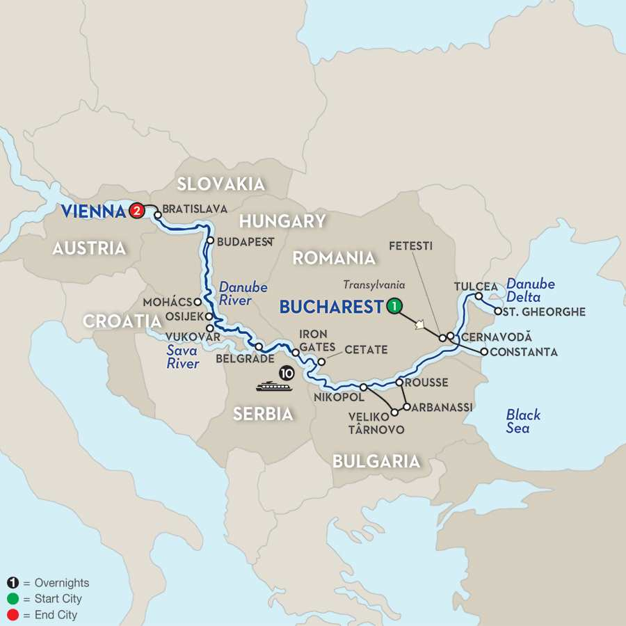 Blue Danube to the Black Sea - Westbound