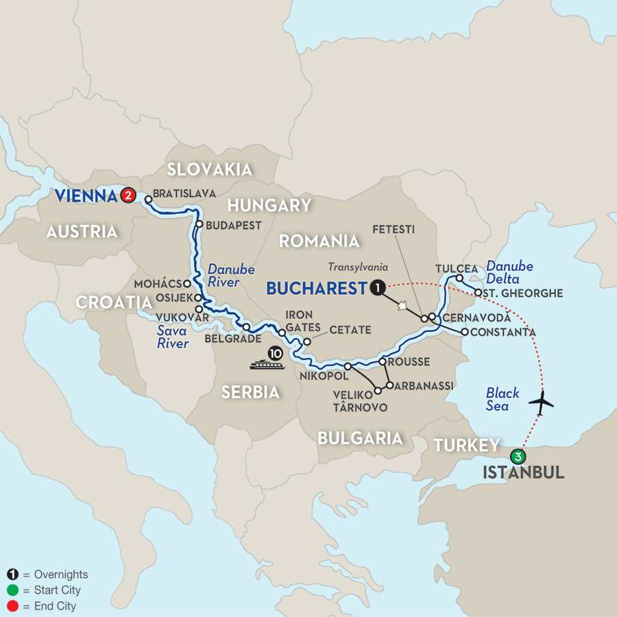 Blue Danube to the Black Sea with Istanbul - Westbound