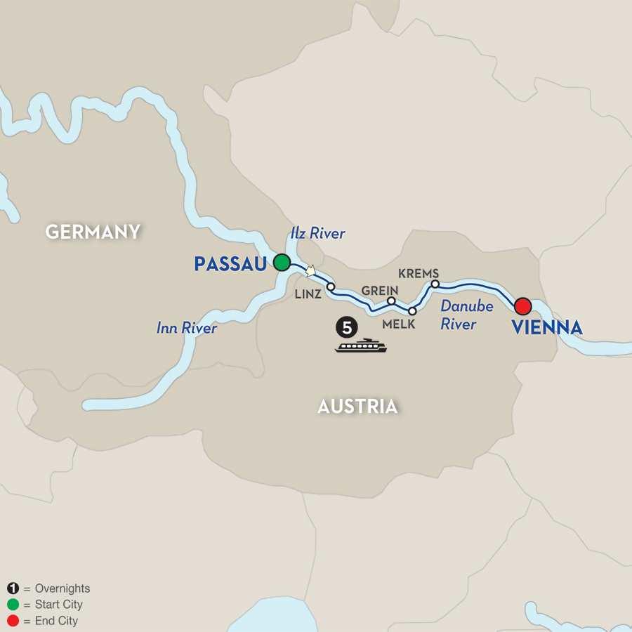 Austrian Highlights & Bavaria – Cruise Only Eastbound