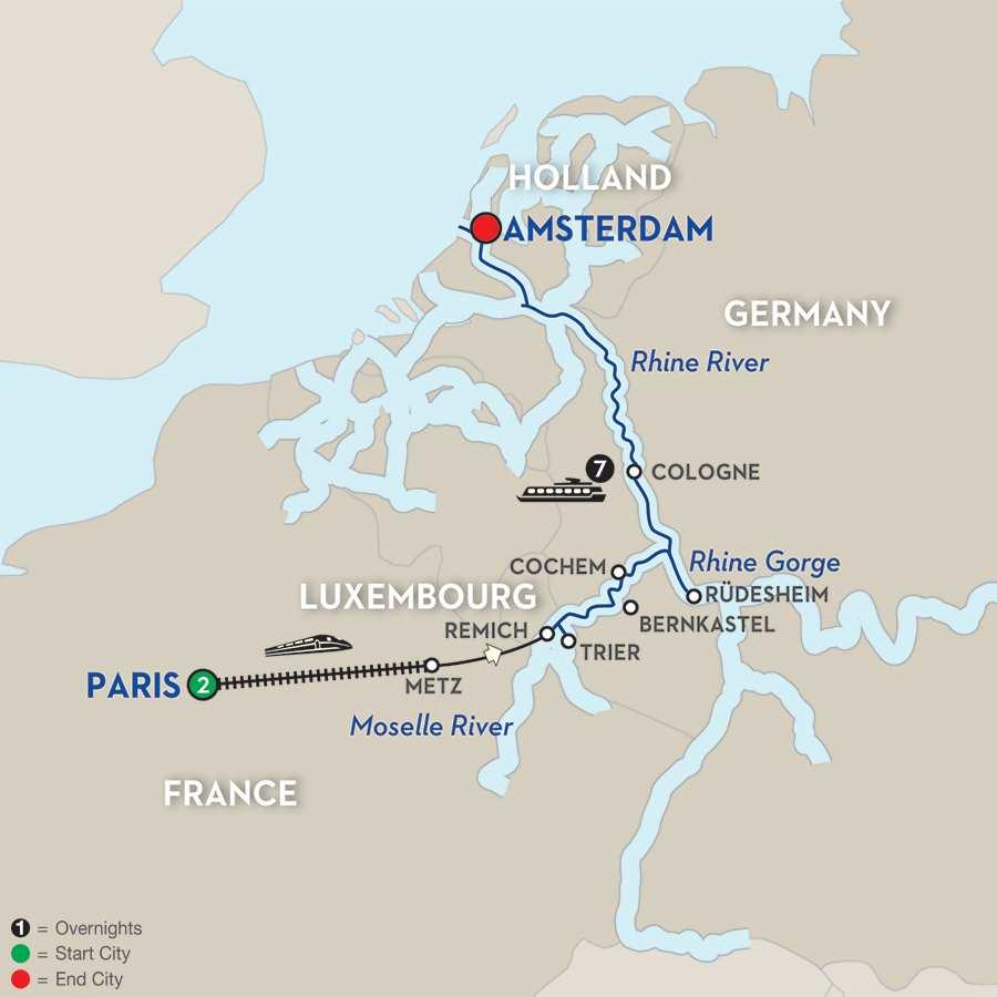 Canals, Vineyards & Paris – Northbound