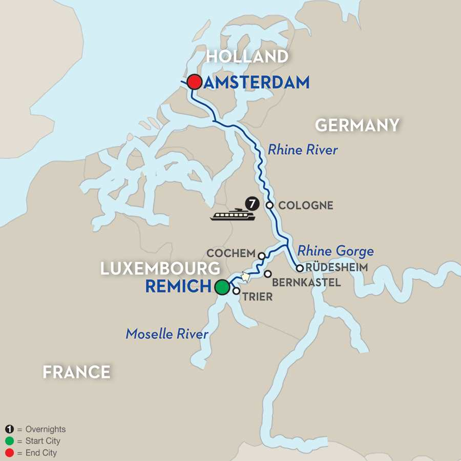 Canals, Vineyards & Paris - Cruise Only Northbound
