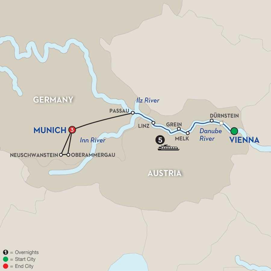 Austrian Highlights & Bavaria – Westbound