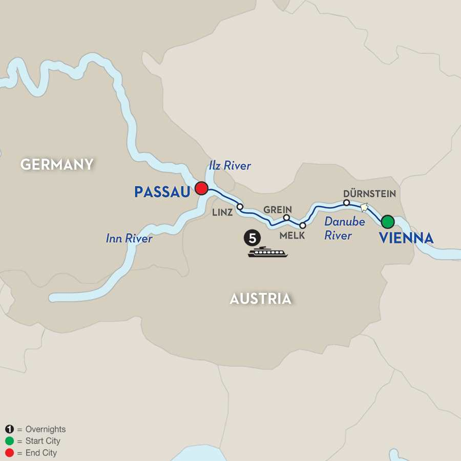 Austrian Highlights & Bavaria – Cruise Only Westbound