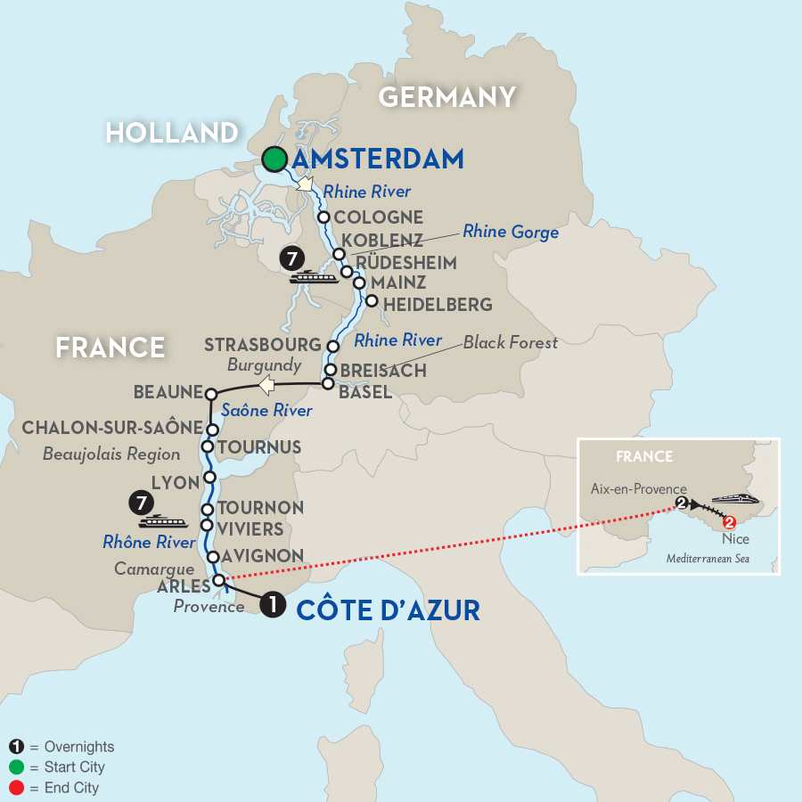 Rhine & Rhône Revealed with Aix-en-Provence & Nice – Southbound