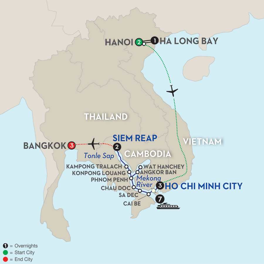 Fascinating Vietnam, Cambodia & the Mekong River with Hanoi, Ha Long Bay & Bangkok – Northbound