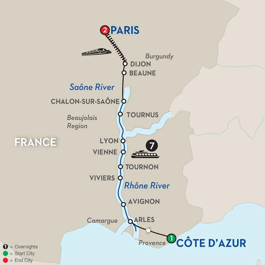 Burgundy & Provence – Northbound