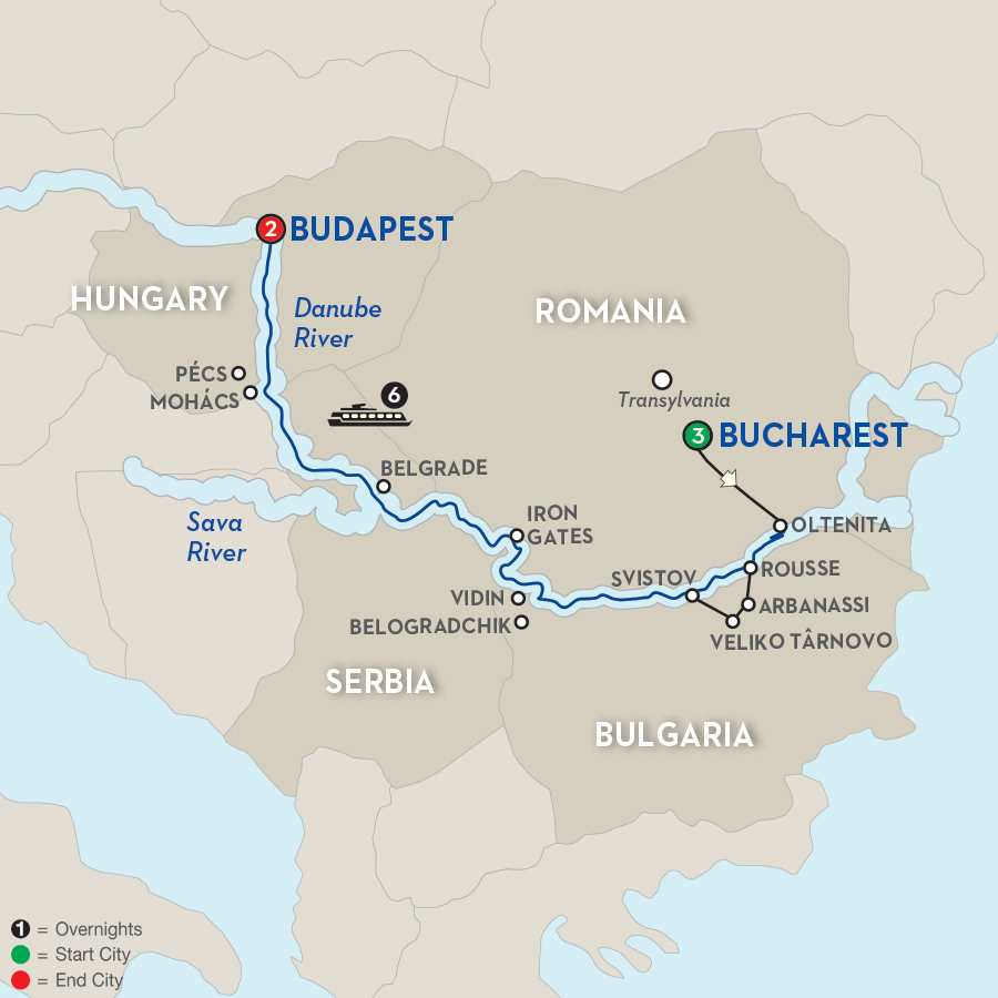 Balkan Discovery with Extended Stay in Bucharest – Westbound