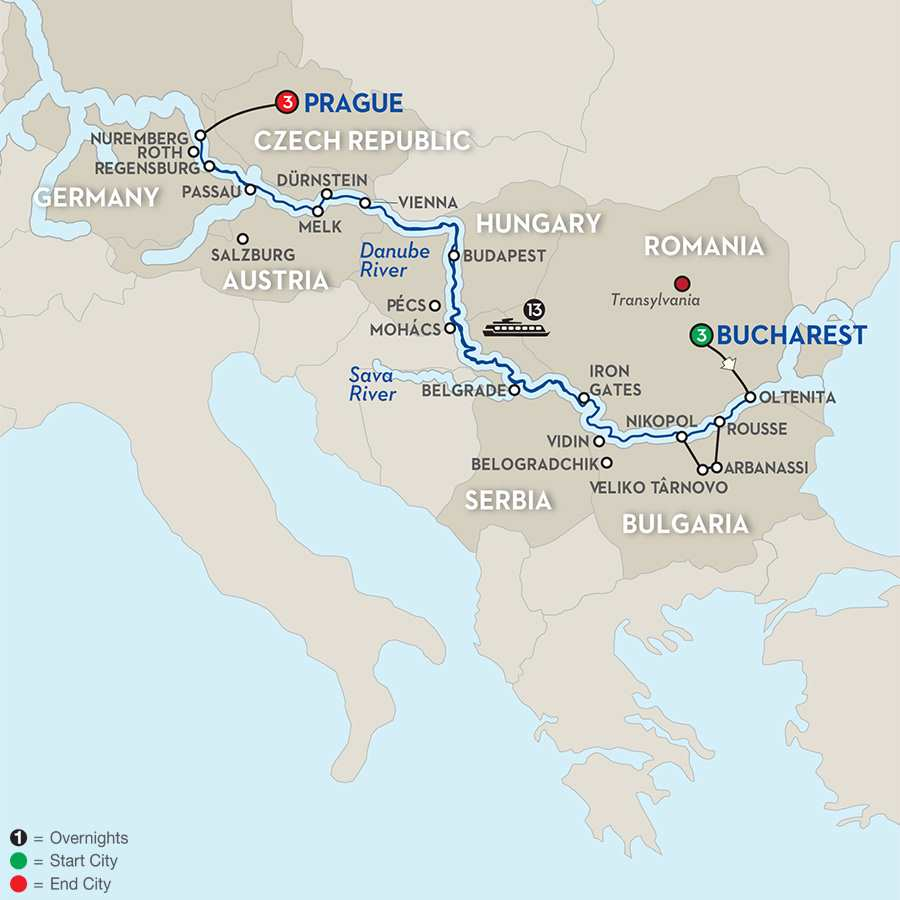 Grand Danube Cruise with Extended Stay in Bucharest - Westbound